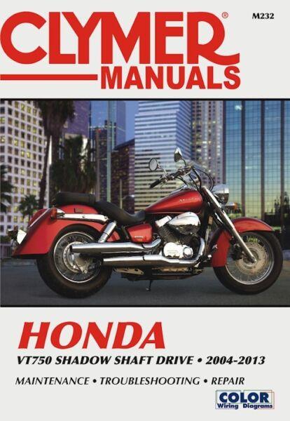 Details about 2004-2013 Honda Shadow 750 Aero Spirit Phantom Shaft Drive  CLYMER REPAIR MANUAL
