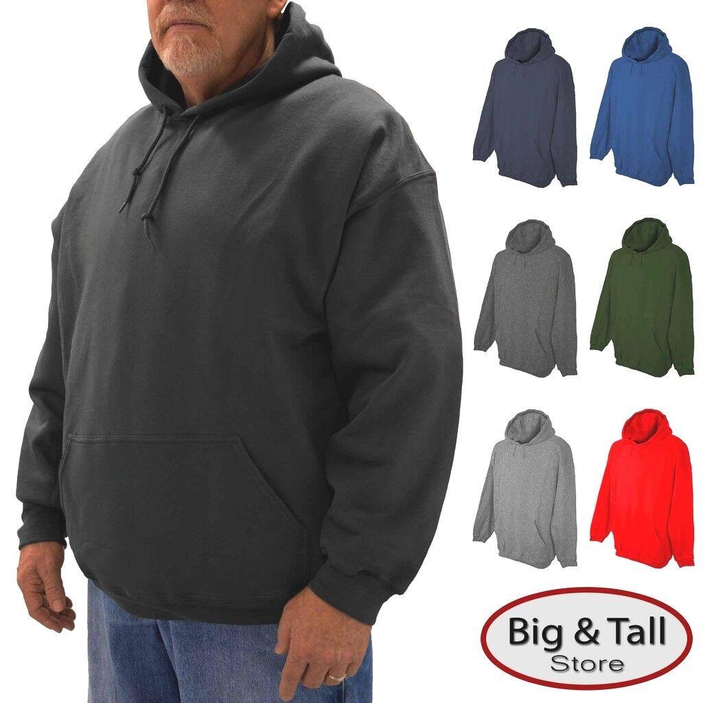 6XLT Medium Weight 8XL 2XLT Falcon Bay Big /& Tall Full Zip Fleece Hoodie 2XL