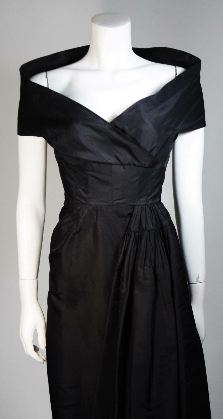 CEIL CHAPMAN  Black Cocktail Dress with Draped De… - image 3
