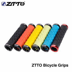 Lock-On Mountain Bike Handlebar Grips Rubber 133mm Black//Red Bicycle New