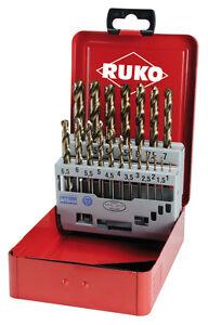 Ruko-19pcs-Set-Punte-Trapano-HSSE-Co5-1-10mm-di-alta-qualita-Made-in-Germany