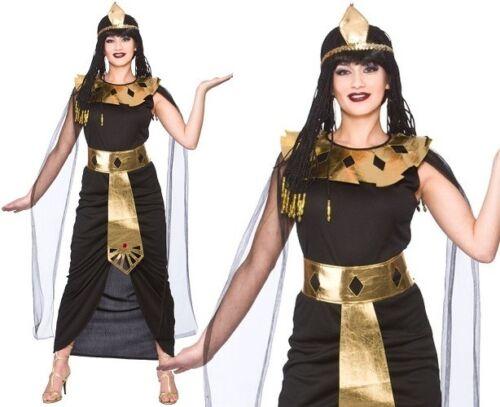Damen Charmant Kleopatra Maskenkostüm Damen Ägyptisch Königin Outfit Neu W