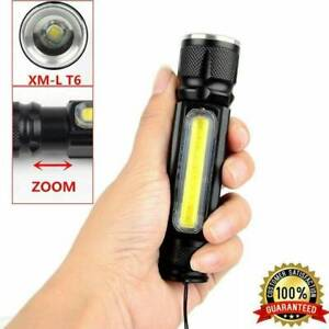 Hot-T6-COB-Zoomable-Light-Lamp-Torch-with-LED-Flashlight-18650-USB-Rechargeable