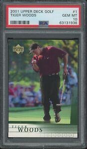 2001 Upper Deck Tiger Woods ROOKIE RC #1 PSA 10 GEM MINT