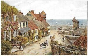 MARS-HILL-LYNMOUTH-Artist-A-R-Quinton-J-Salmon-Card-3194-Unposted