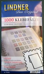 Lindner-postzegel-plakkers-1000-stuks-charnieres-stamp-hinges-Klebefalze
