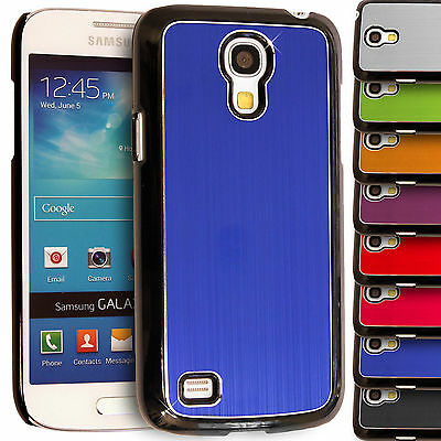 Brushed Metallic Hard Back Case for Samsung Galaxy S4 Mini i9190 Aluminum Cover