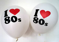 "80s Party Decoration - I Love 80s Balloons x 10 - 12"" Balloons"