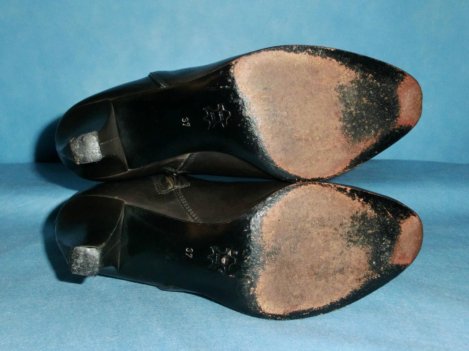 Stiefel Stiefeletten 100% QUELQUES Schuhe DE PLUS 100% Stiefeletten cuir p 37 fr f15013