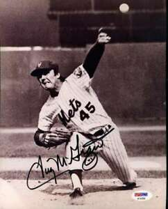 Tug-Mcgraw-Psa-Dna-Coa-Hand-Signed-8x10-Mets-Photo-Autograph