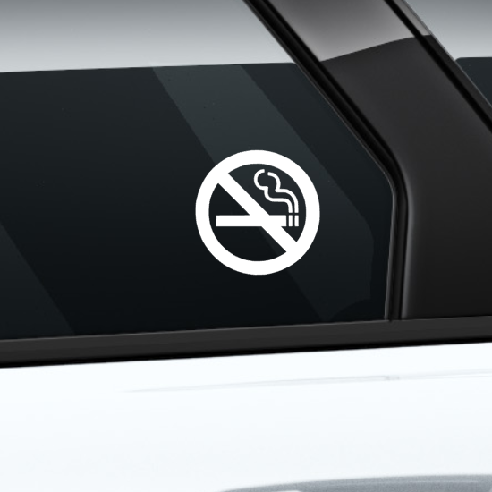 9x No Smoking Stickers Waterproof Durable Vinyl Decals For Taxi Bus Car Van 40mm