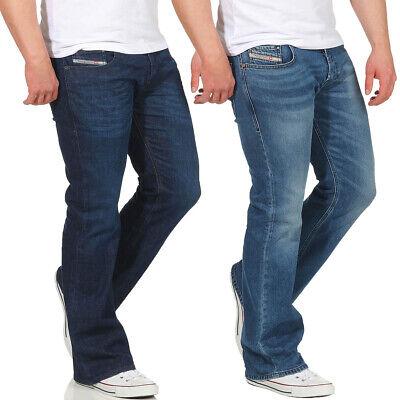DIESEL Uomo Jeans Zathan Pantaloni Bootcut ampio gamba regular Uomini Pantaloni Jeans
