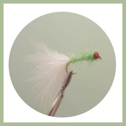 Taglia 10 Code Bianco I Gatti Whiskers variazione Trote Mosche confezione da 8 PICCOLI DIAVOLI