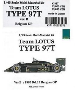 Mfh Model Factory Hiro 1/43 Lotus Type 97t Belgique Gp Multi Matière Kit