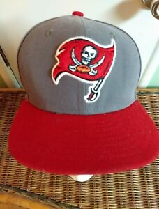 f557a28f Details about Tampa Bay Buccaneers Hat Cap New era 59 fifty 6 3/8. Fitted  on field. Gray/ red.