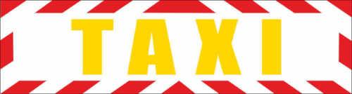 """Magnetfolie Magnetschild /""""Taxi /"""" mit Rahmen 30 x 8 cm"""