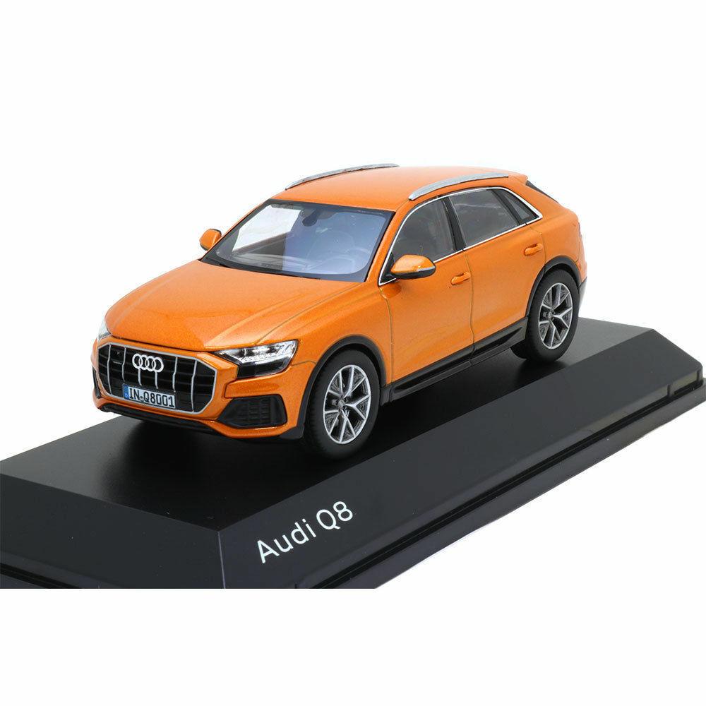 Wonderful NOREV-modelcar AUDI Q8 2018 - orange - scale 1 43