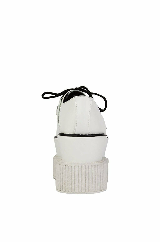 T.U.K. A8640 Rare Tuk Full Triple Weiß Leder Triple Full Sole Viva Creepers  Mondo e449ef