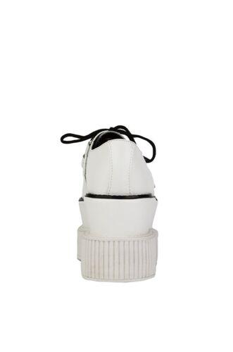 A8640 RARE Tuk Full en cuir blanc triple semelle Viva Creepers Mondo T.U.K