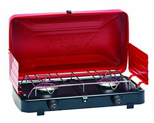 Texsport Heavy-Gauge Stahl Rainier Kompakt 2 Burner Propan Zelten Herdplatte