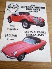 HUTSON TF (MG T & JAGUAR E-TYPE)  CAR SALES BROCHURE MID 90's?