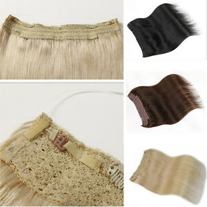 US-STOCK-Hidden-Halo-Invisible-Wire-Weft-100-Remy-Human-Hair-Extension-100g-pcs