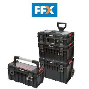 Trend-Pro-Modular-Storage-Cart-Set-4pc-Wheeled-Toolbox-Organiser