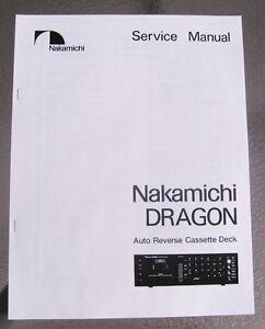 nakamichi dragon cassette deck service repair manual paper print ebay rh ebay com Nakamichi Dragon Cassette Deck Nakamichi Dragon CD