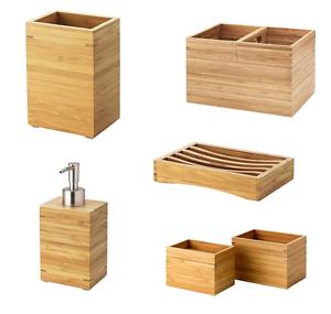 Badzubehör & -textilien Unparteiisch Ikea Dragan Bambus Serie Seifenschale Box Körbe Seifenspender Zahnbürstenhalter Angenehme SüßE