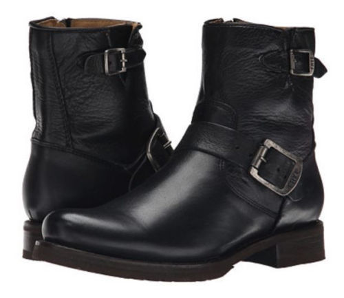 New Frye Women's Veronica 6  Shortie Black Leather Boots Size 6.5 M 74509