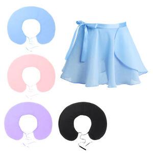 Kids-Girls-Ballet-Basic-Dance-Dress-Gymnastics-Tutu-Wrap-Skirt-Dancewear-Costume