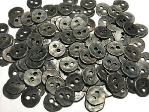 """Copper Metal Button Vintage Hammered Finish 15mm 5//8/"""" 2hole old 12 Blackened"""