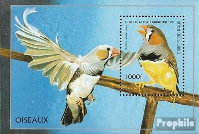 Topical Stamps Earnest Guinea Block502 Unmounted Mint Never Hinged 1996 Birds Durable Service Animal Kingdom