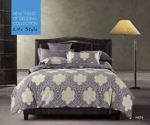 CC-amp-DD-100-High-Quality-Cotton-400-TC-034-Purple-Dream-034-Duvet-Cover-Set-Queen-Size