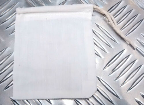 Genuine UK Military Small White Drawstring Cotton Bag//Mini Pouch Jewelery x 50