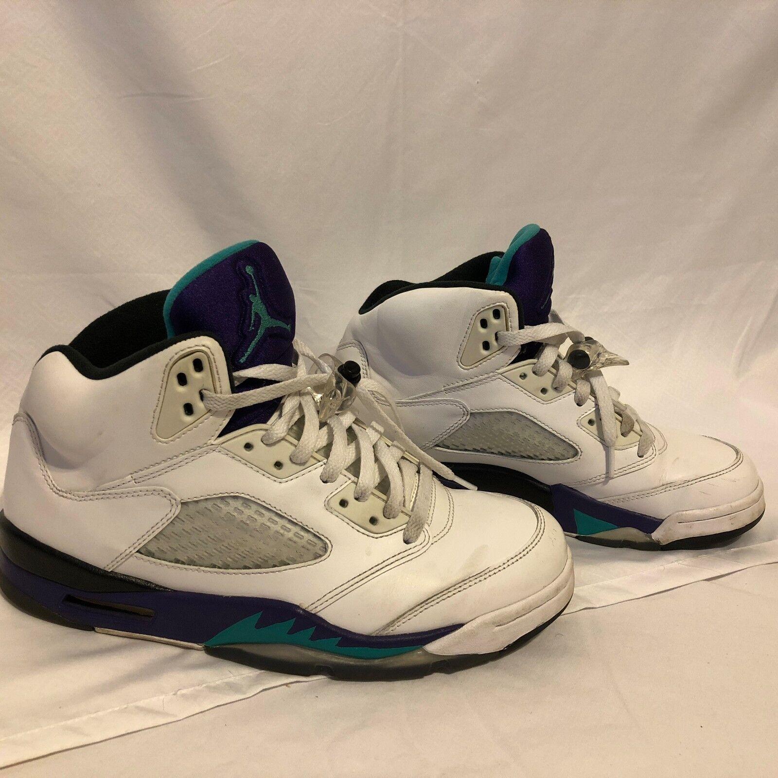 huge discount 4cd85 94c64 Nike Nike Nike Air Jordan Retro 5 White Grape 136027-108 Men s Size 8.5  373c7f