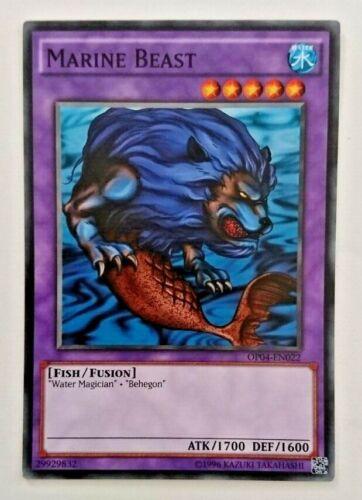Ltd.Ed. OP04 Yugioh Marine Beast x 1 NM//M EN022 Common