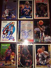 formr Detroit Pistons NBA auto autograph basketball card LOT X9 Joe Dumars +more