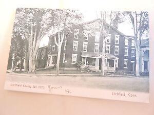 1905-10 County Jail Litchfield Connecticut CT Post Card