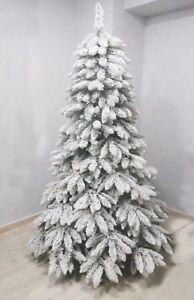 Albero Di Natale Innevato.Albero Di Natale Innevato Bianco Glaciale Altezza 270 Con Rami Floccato Tarvisio Ebay