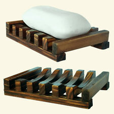 Creative Natural Teak Wood Bath Storage Tray Soap Dish Holder Handmade Craft