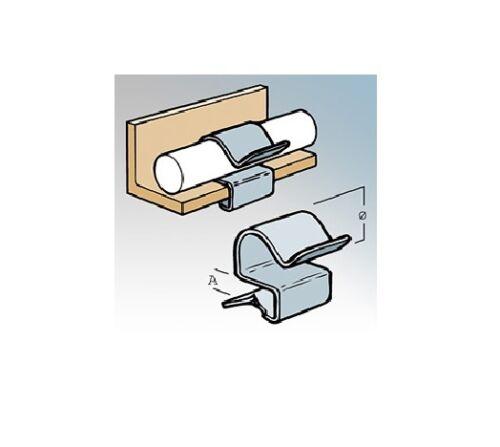 Britclips cr86 Cable ejecutar Clip-Paquete De 25-Apto Para Ronda conducto O Cable