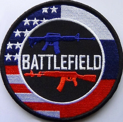 Battlefield Game Patch Embroidered USA vs. Russia Hook and Loop backing