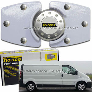 White Stoplock Vauxhall Opel Vivaro High Security Anti