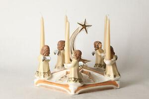 Goebel-Champagne-5-Angel-M-Candles-On-5eckiger-Platter-Mit-Schweifstern-142108