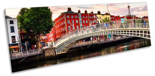 Dublín Ha /'penny Bridge impresión panorama LONA pared arte Foto Multicolores