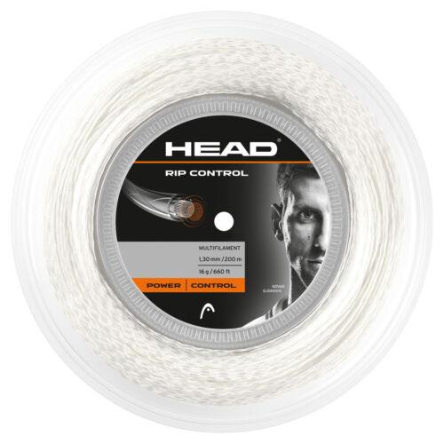 WHITE 1.30MM 16G RRP £150 HEAD RIP CONTROL TENNIS STRING 200M REEL