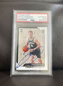 Donte Divincenzo Signed 2018 Panini NBA Hoops Rookie Card Psa/Dna Slabbed Bucks