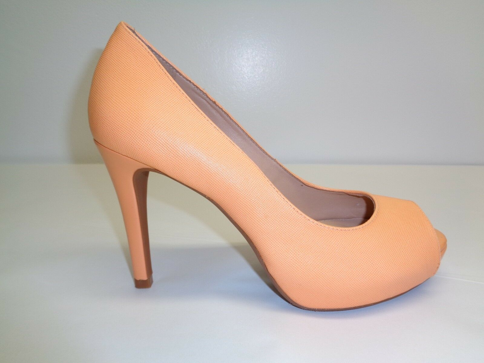 Antonio Melani Size 9 M ERIKA Orange Leather Open Toe Heels New Donna Shoes