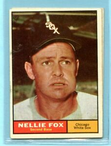 1961-Topps-30-Nellie-Fox-EX-Chicago-White-Sox-Lot-717